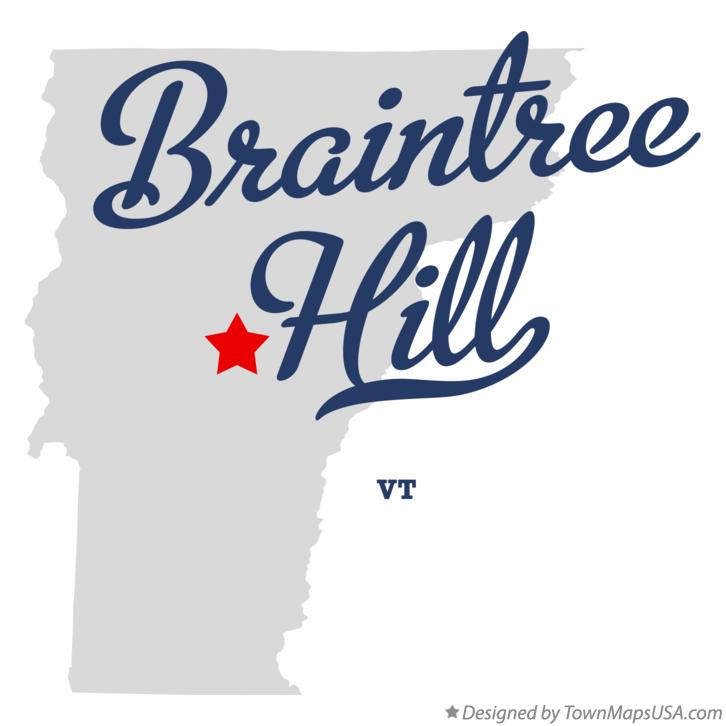 Map of Braintree Hill Vermont VT