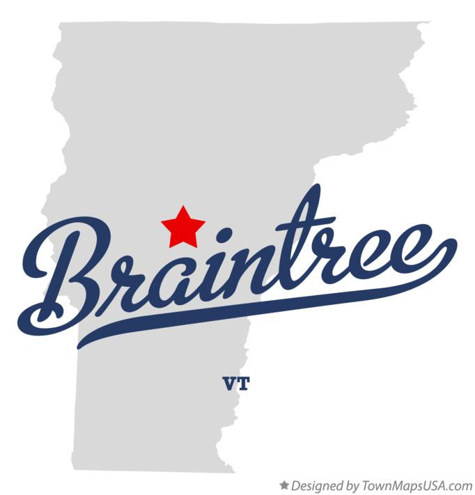 Map of Braintree Vermont VT