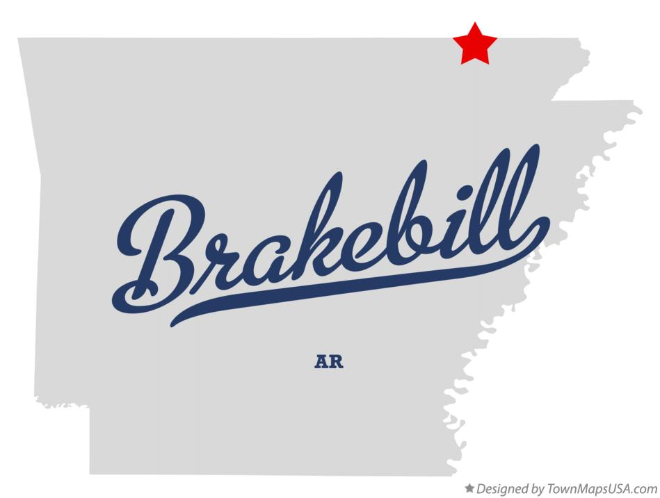 Map of Brakebill Arkansas AR
