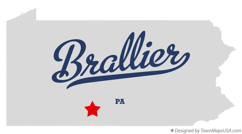 Map of Brallier Pennsylvania PA