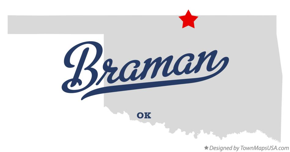 Map of Braman Oklahoma OK