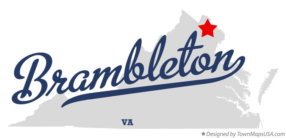 Map of Brambleton Virginia VA