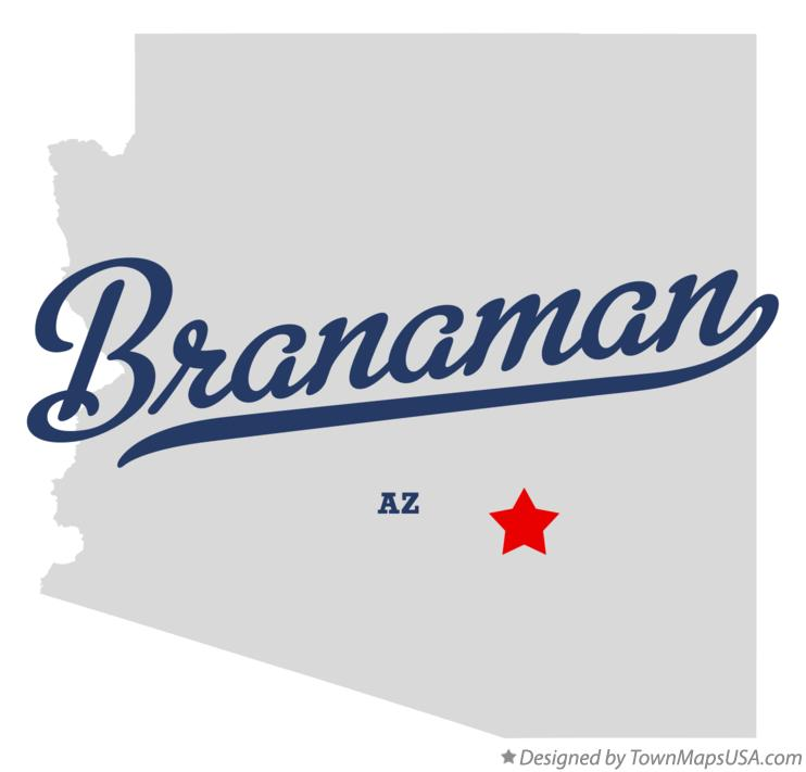 Map of Branaman Arizona AZ