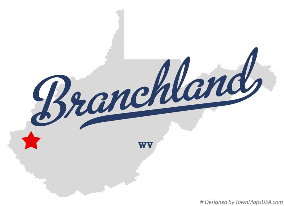 Map of Branchland West Virginia WV