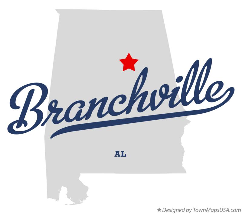 Map of Branchville Alabama AL
