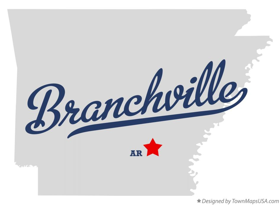 Map of Branchville Arkansas AR