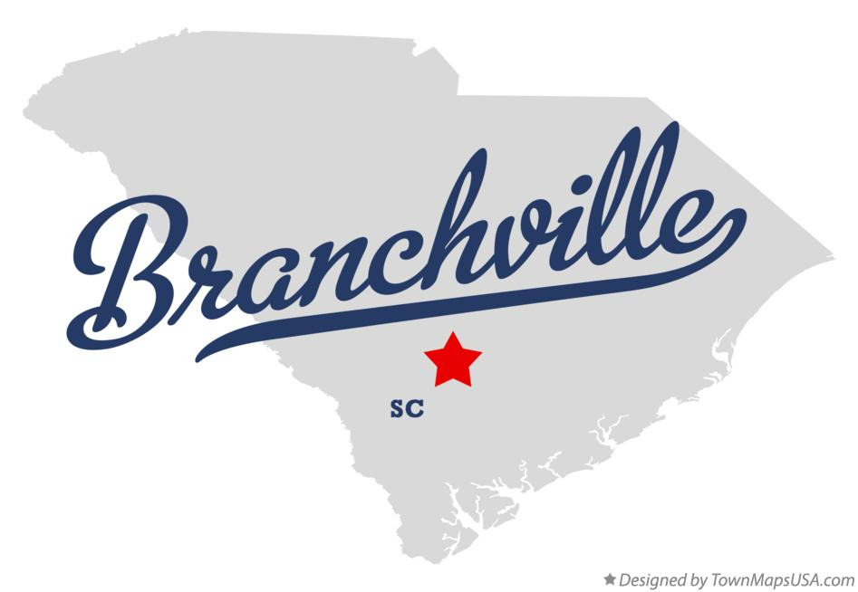 Map of Branchville South Carolina SC