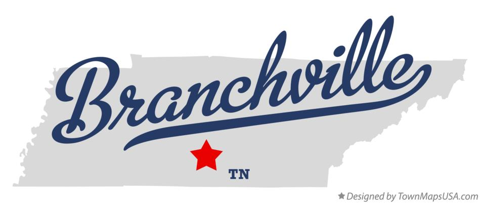 Map of Branchville Tennessee TN