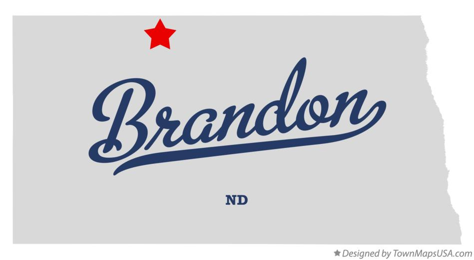 Map of Brandon North Dakota ND