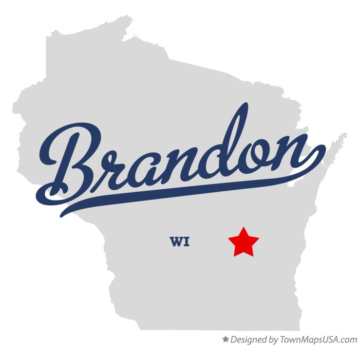 Map of Brandon Wisconsin WI