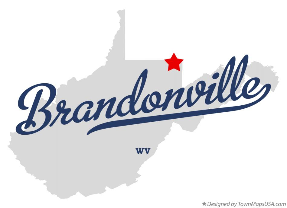 Map of Brandonville West Virginia WV