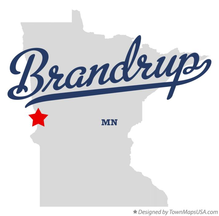 Map of Brandrup Minnesota MN