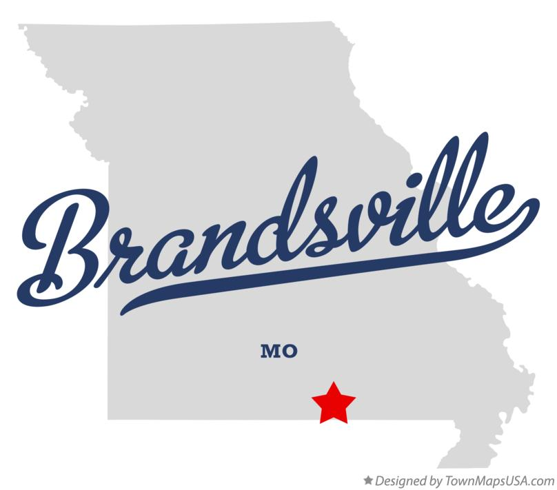 Map of Brandsville Missouri MO