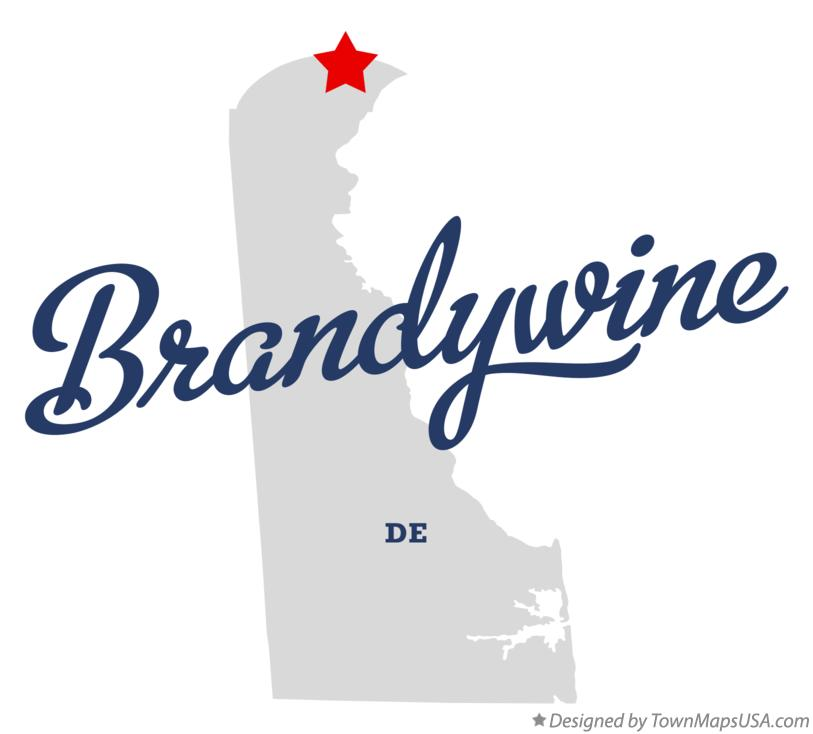 Map of Brandywine Delaware DE