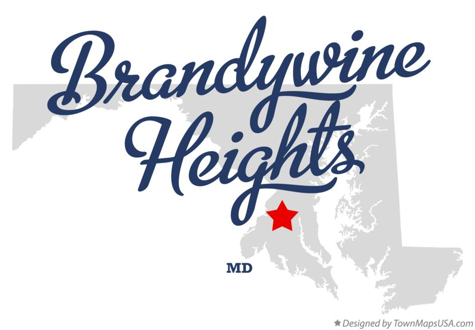 Map of Brandywine Heights Maryland MD