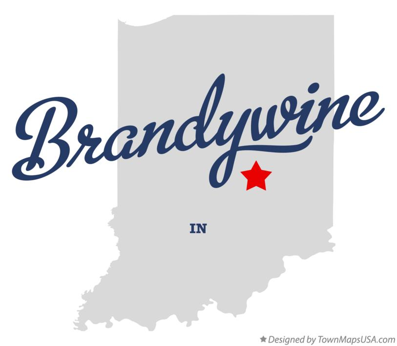 Map of Brandywine Indiana IN
