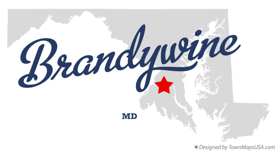 Map of Brandywine Maryland MD