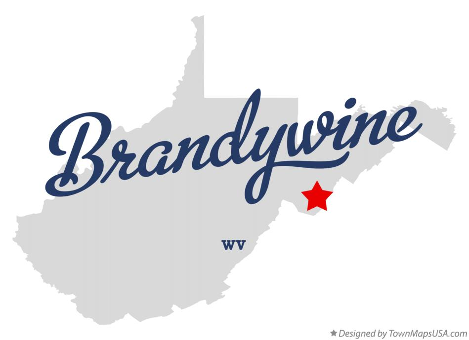 Map of Brandywine West Virginia WV