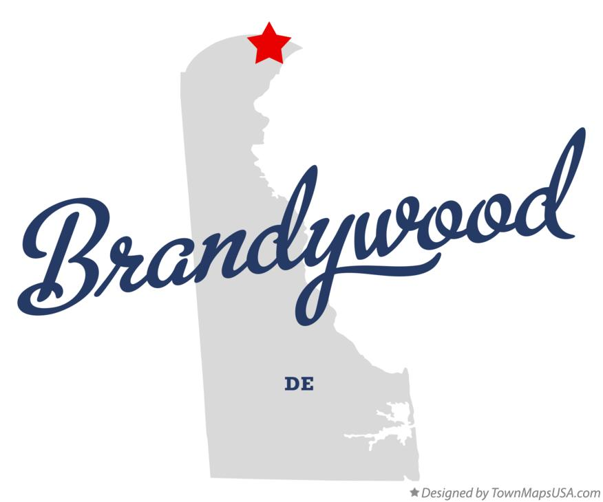 Map of Brandywood Delaware DE