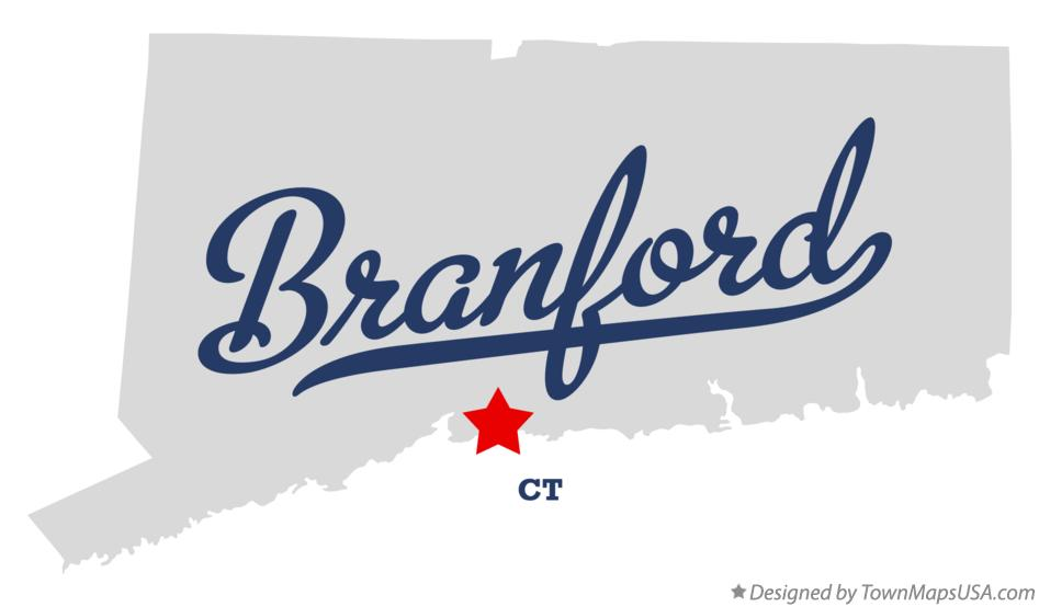 Map of Branford Connecticut CT