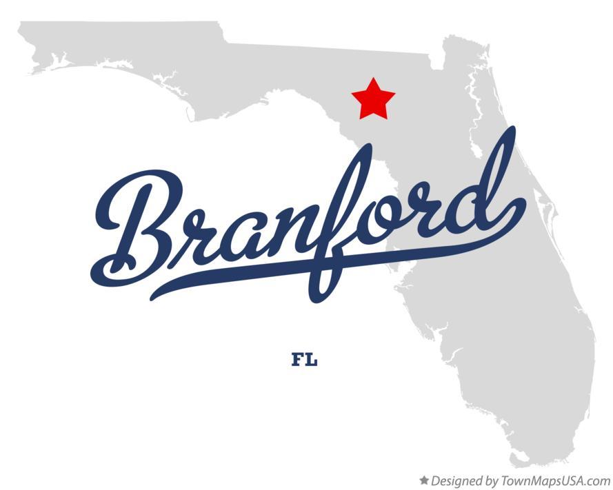Florida Town Map.Map Of Branford Fl Florida