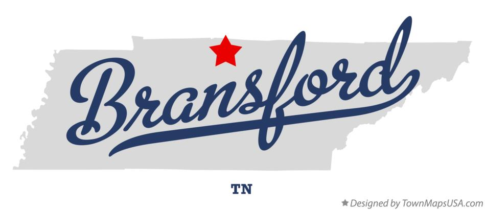 Map of Bransford Tennessee TN