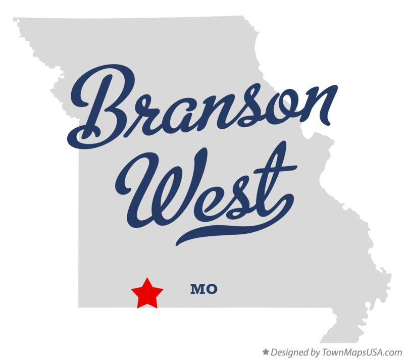 Map of Branson West Missouri MO