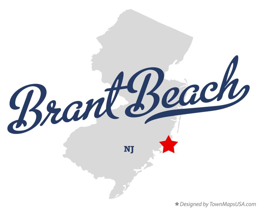 Map of Brant Beach New Jersey NJ