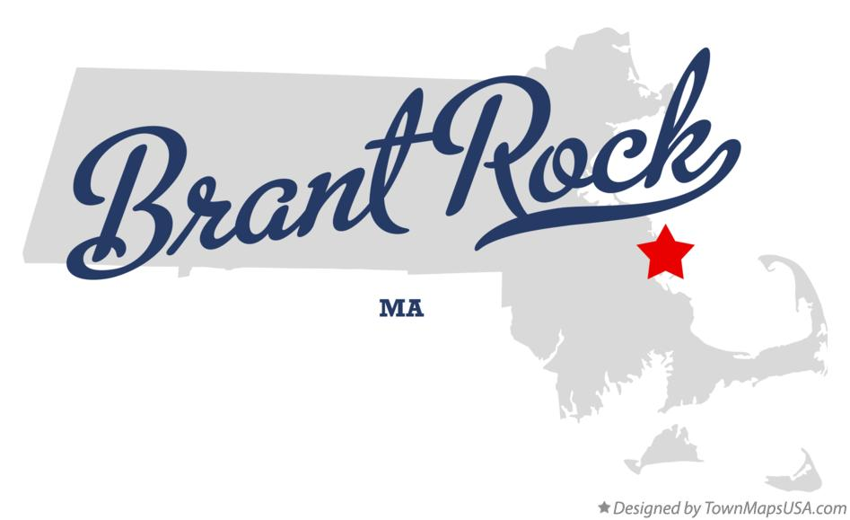 Map of Brant Rock Massachusetts MA