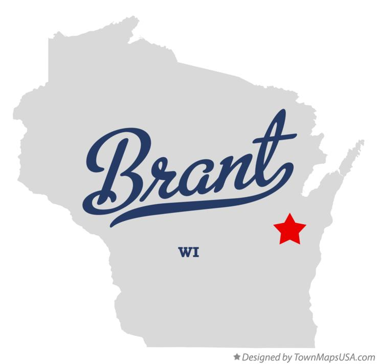 Map of Brant Wisconsin WI