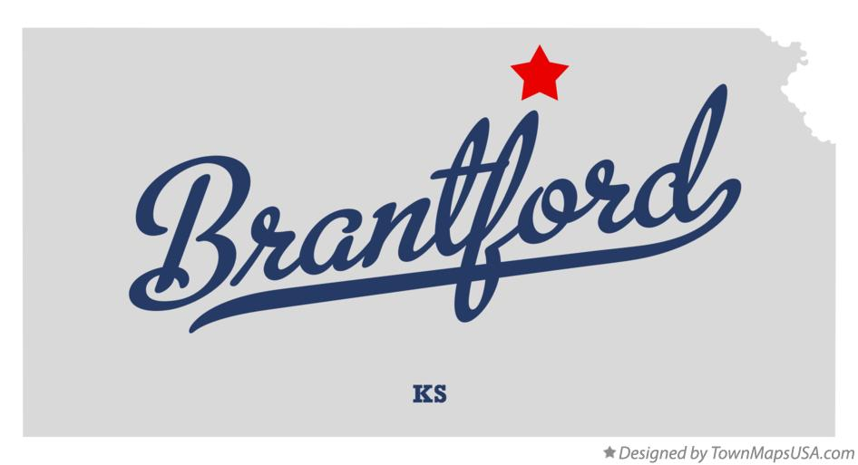 Map of Brantford Kansas KS