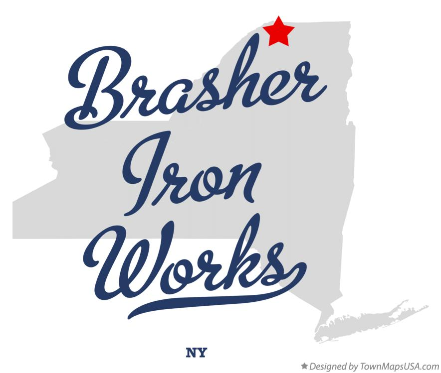 Map of Brasher Iron Works New York NY