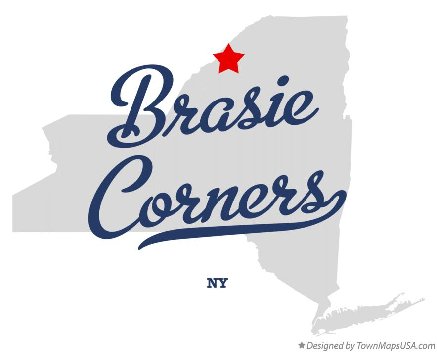 Map of Brasie Corners New York NY