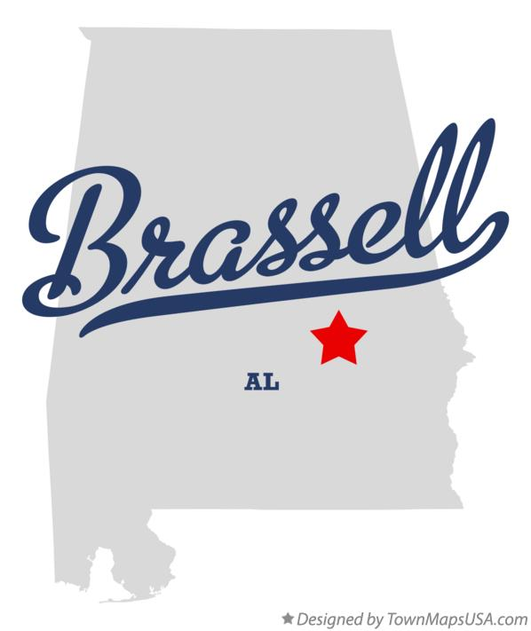 Map of Brassell Alabama AL