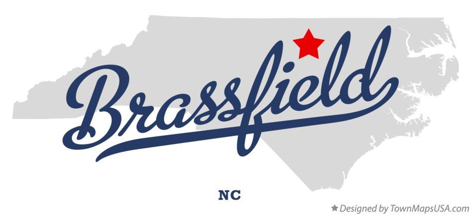 Map of Brassfield North Carolina NC