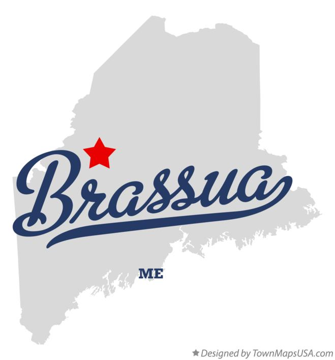 Map of Brassua Maine ME