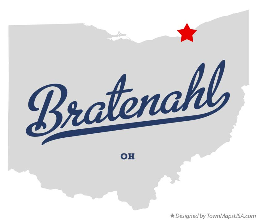 Map of Bratenahl Ohio OH