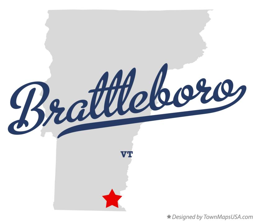Map of Brattleboro Vermont VT