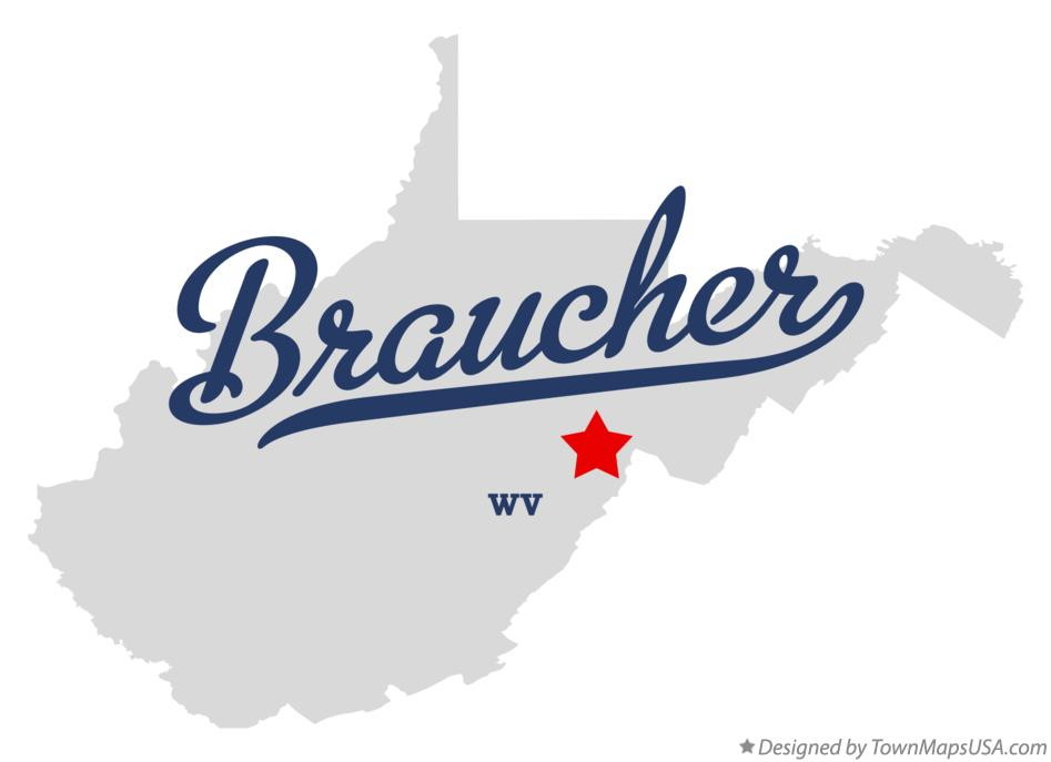 Map of Braucher West Virginia WV