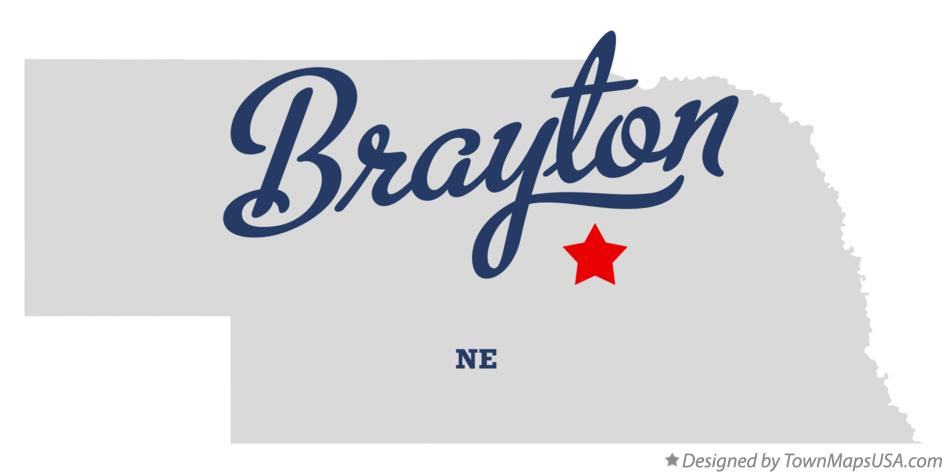 Map of Brayton Nebraska NE