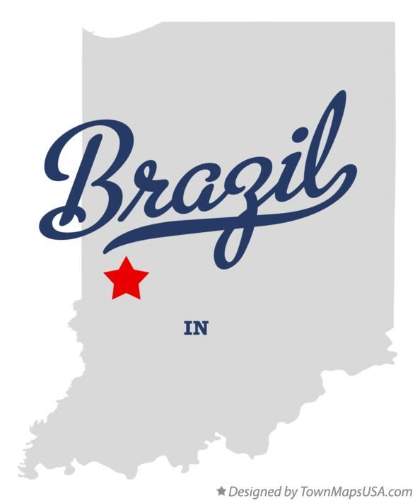 Map of Brazil Indiana IN