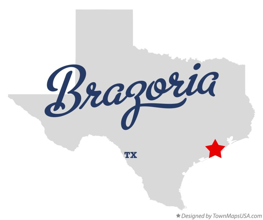 Map of Brazoria Texas TX