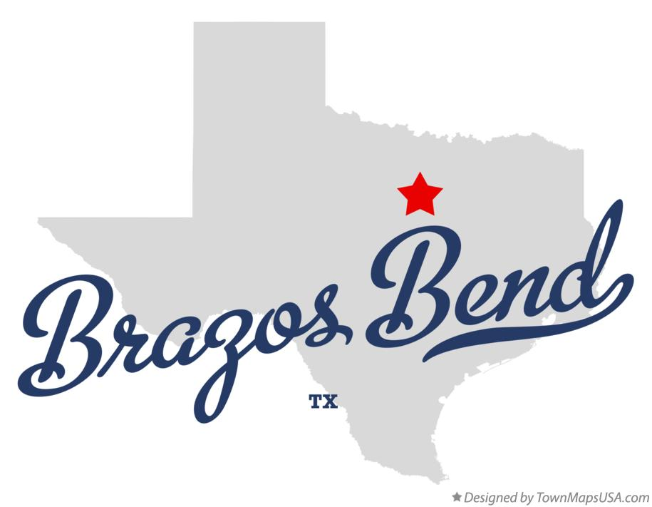 Map of Brazos Bend Texas TX