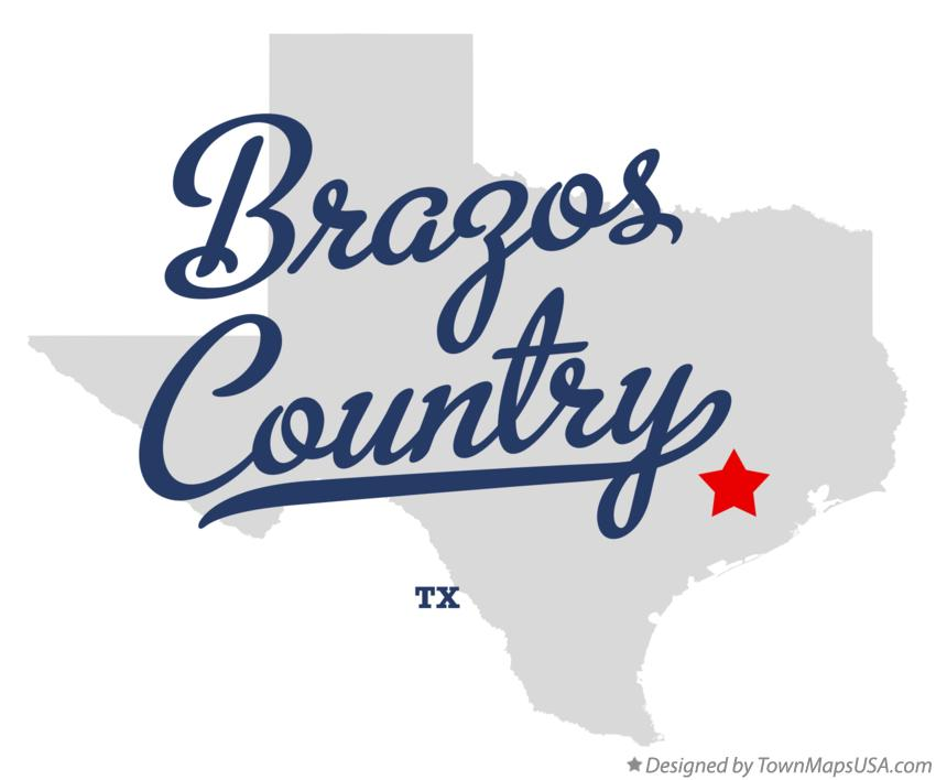 Map of Brazos Country Texas TX
