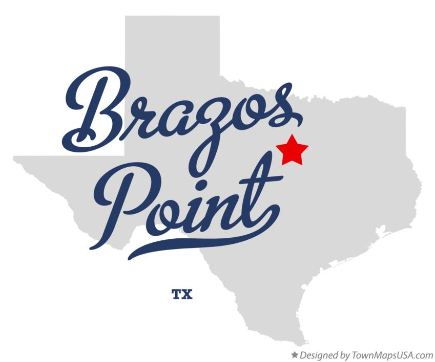 Map of Brazos Point Texas TX