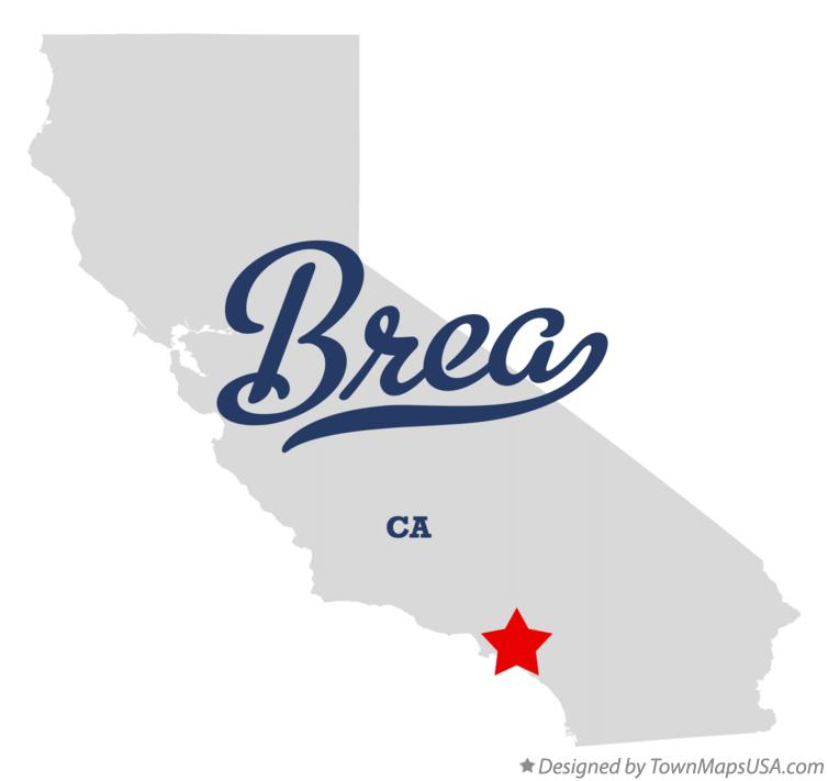 Map of Brea California CA