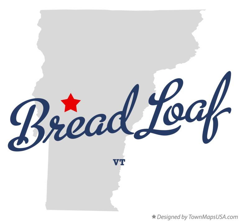 Map of Bread Loaf Vermont VT