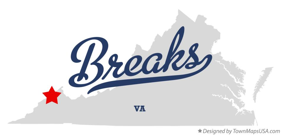 Map of Breaks Virginia VA