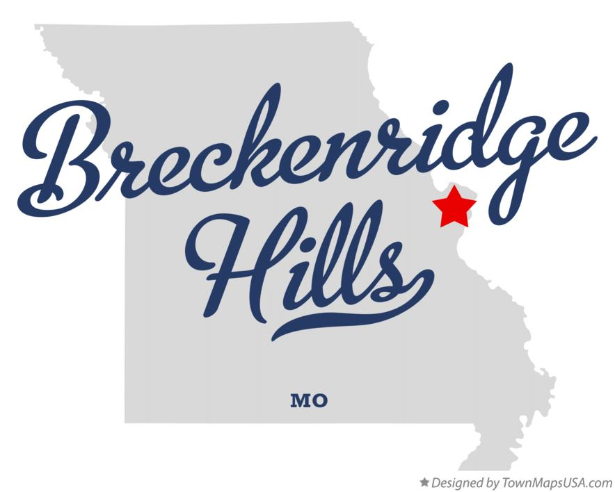 Woodson Terrace (MO) United States  City new picture : Map of Breckenridge Hills Missouri MO