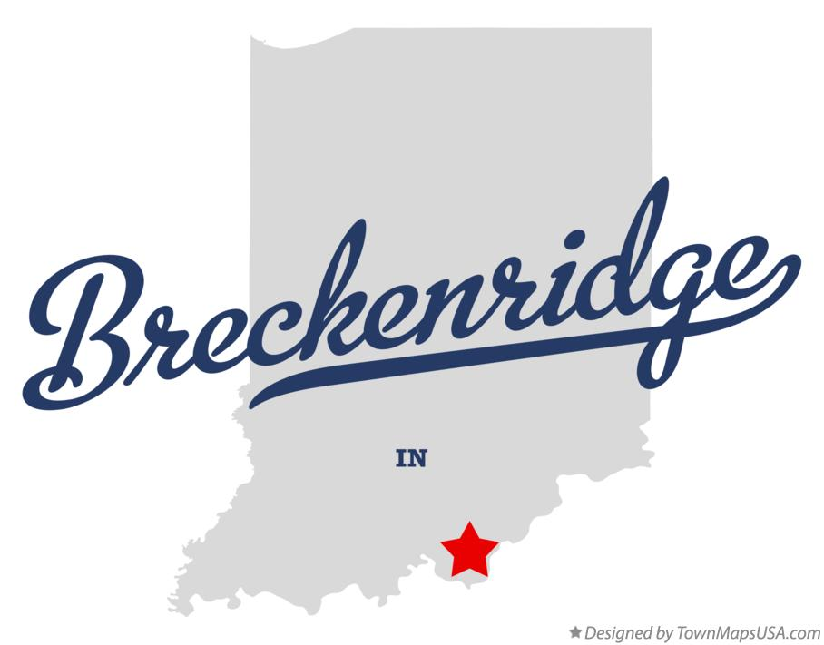 Map of Breckenridge Indiana IN